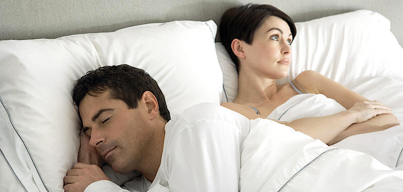 Apnoe - eine Frau kann nicht schlafen