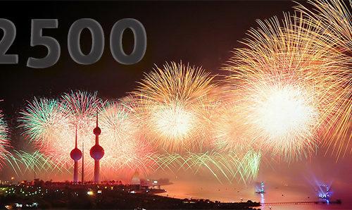 Feuerwerk für 2500 Views